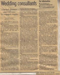 KC Star - Wedding Consultants, 2-6-2003