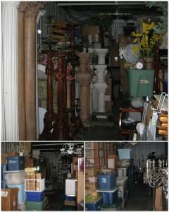 This is just a sample of the inventory that filled 4-1/2 single-car garage sized bins at Storage Mart.