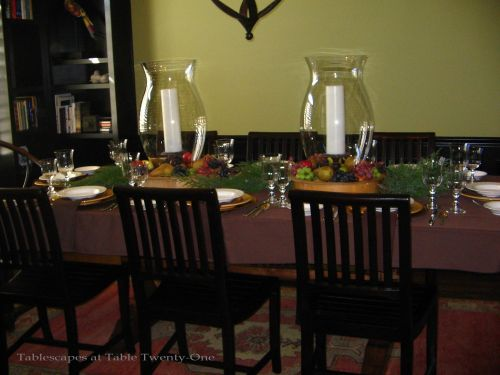 Christmas Dinner Tablescapes a Dinner Tablescape For an