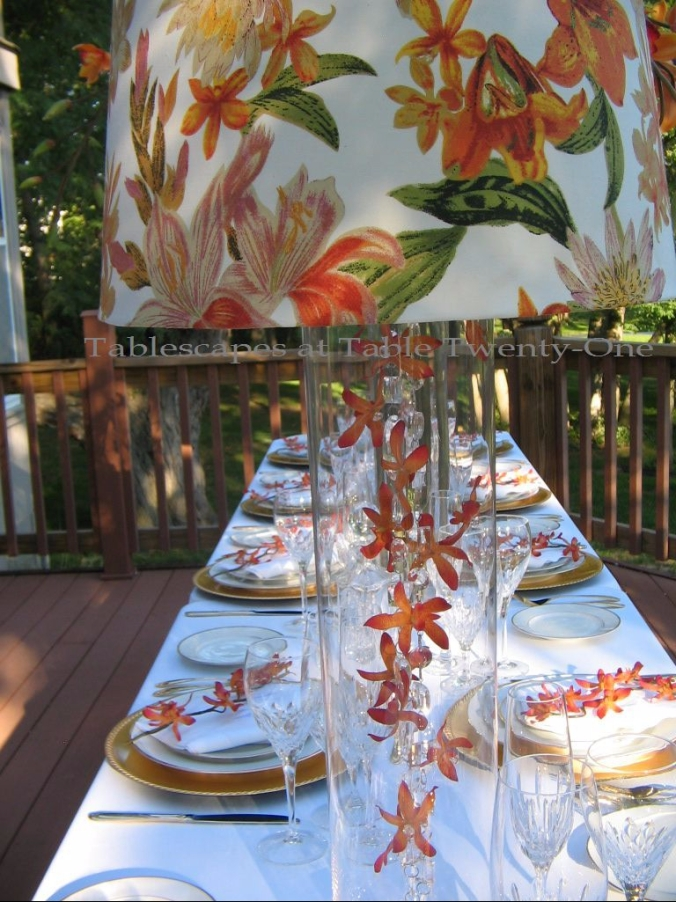"""Raining Orchids"" - Tablescapes at Table Twenty-One, www.tabletwentyone.wordpress.com"
