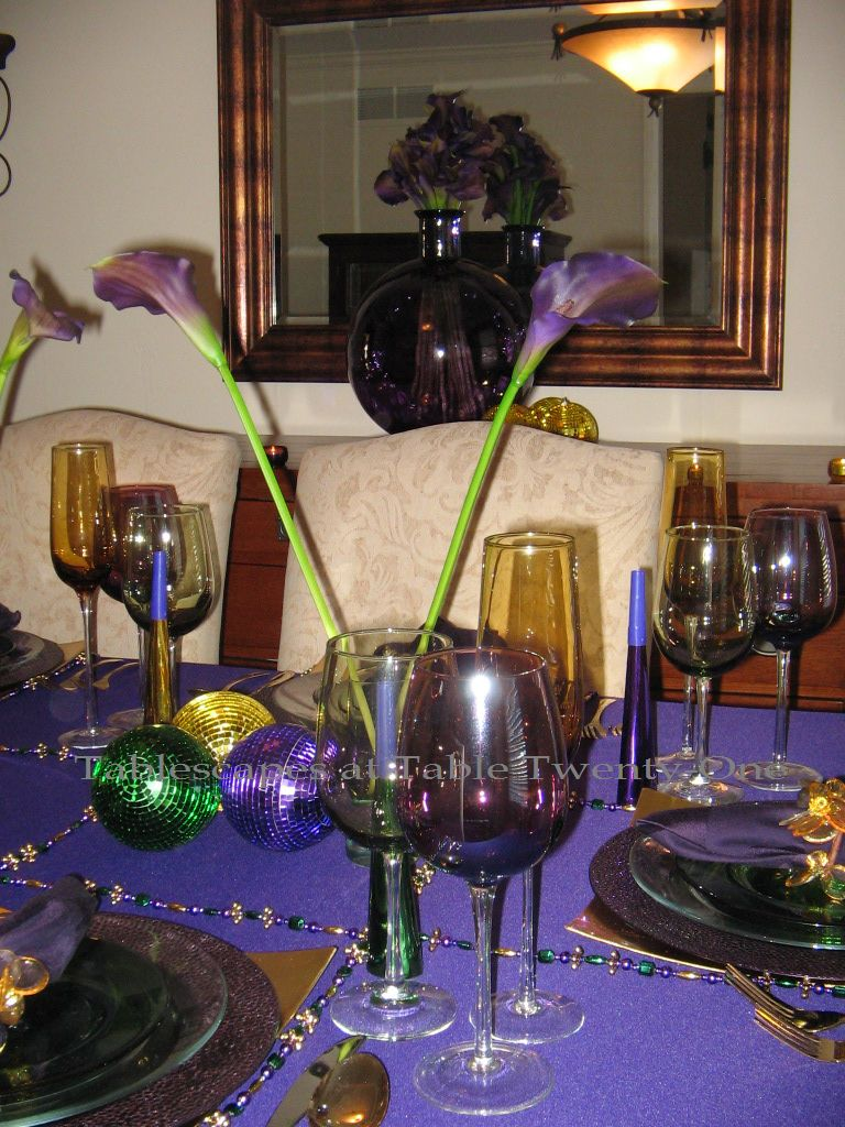 Mardi Gras Lite Tablescapes At Table 21