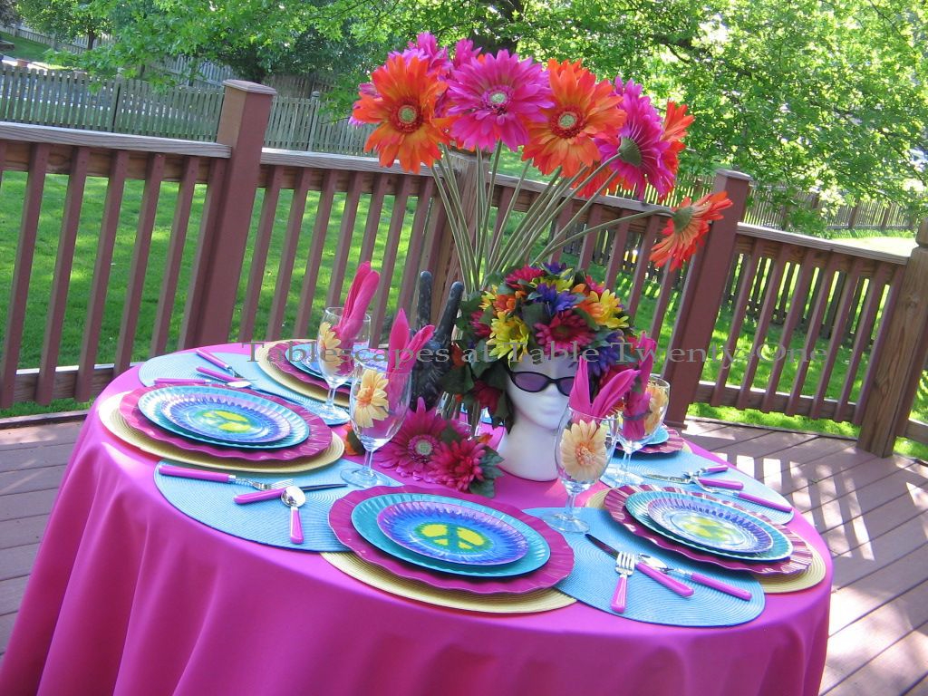 I Drew On All The Bright, Mind Bending Colors Of The 1960s Including Hot  Pink, Yellow, And A Range Of Blues. Each Psychedelic Place Setting Starts  With A ...