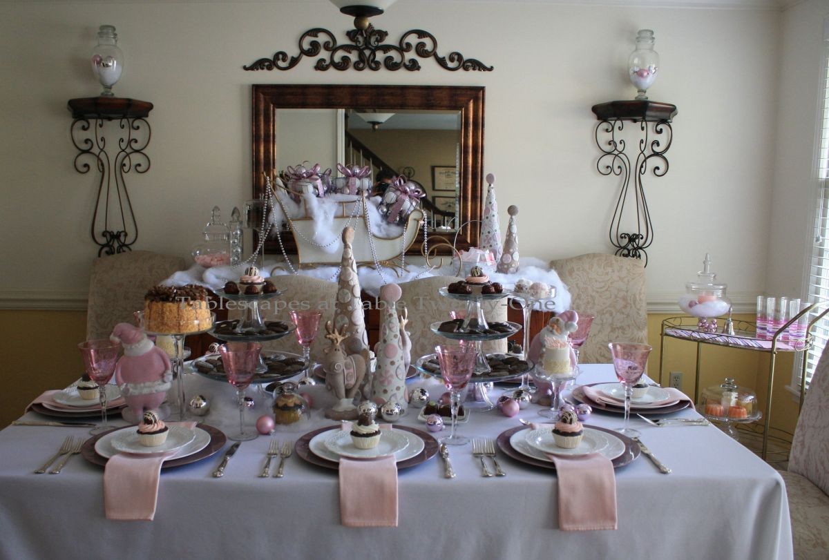 Pink Amp Purple Chocolate Christmas Tablescape Tablescapes