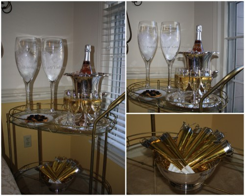 Champagne Cart Collage