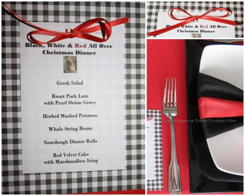Flatware & menu collage