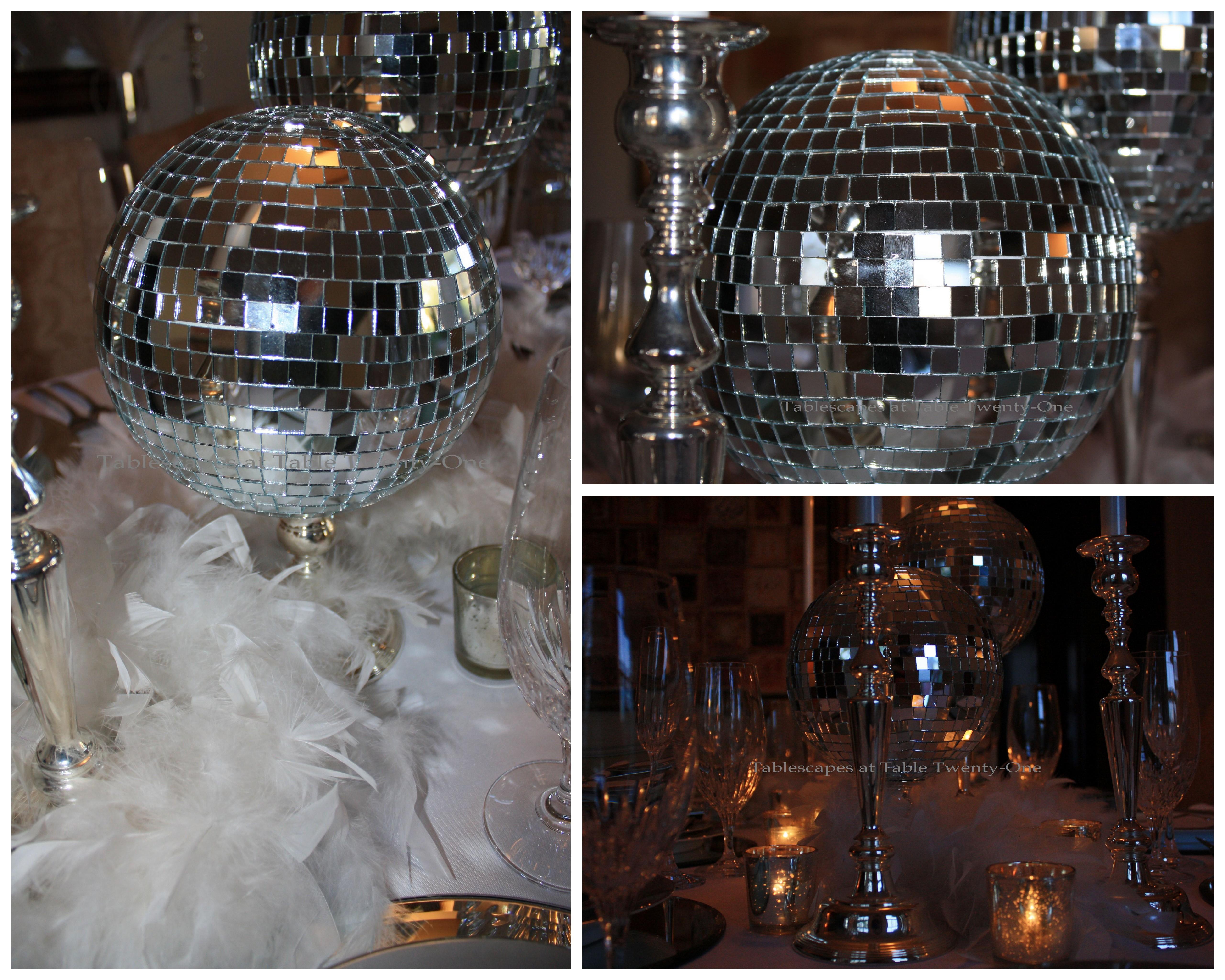 Mirror ball collage