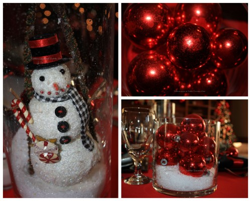 Ornament and snowman collage