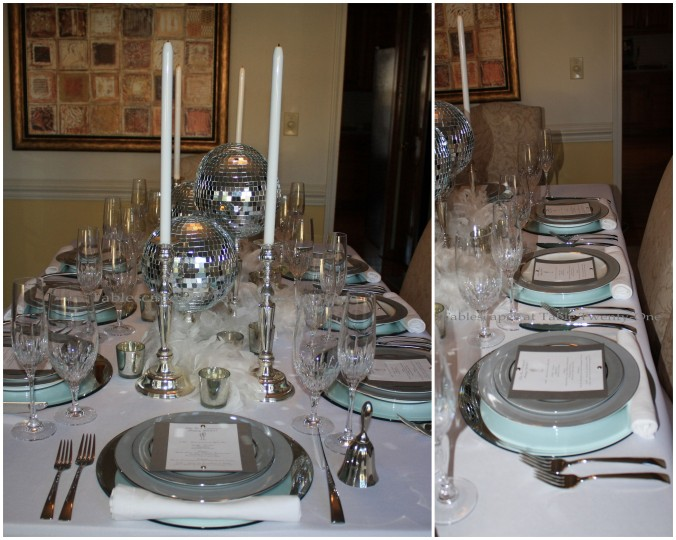 Table lengthwise & mulitple place setting collage