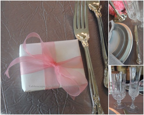 Flatware, Stemware, Favor collage