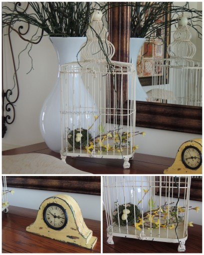 Birdcage & clock collage