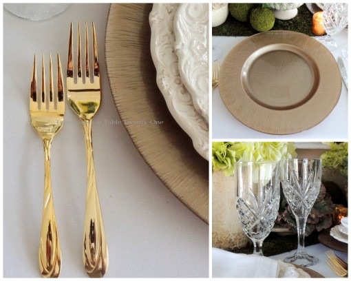 Charger, Flatware, Stemware collage II