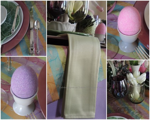 Flatware, Napkin, Stemware, Egg Cup collage