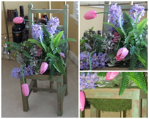 Floral chair collage
