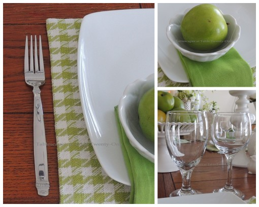 Stemware, flatware, bowl collage