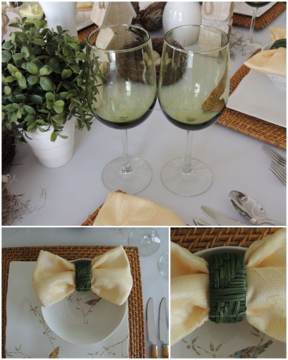 Stemware, Napkin collage