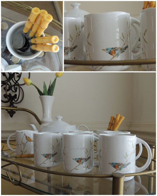 Tea cart collage
