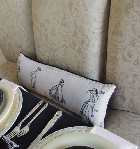 Sophisticated ladies pillow - Tablescapes at Table Twenty-One