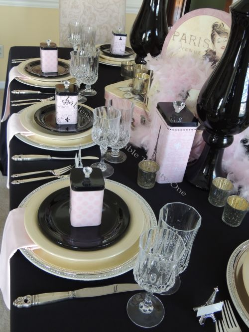 French Poodle tablescape place settings - Tablescapes at Table Twenty-One