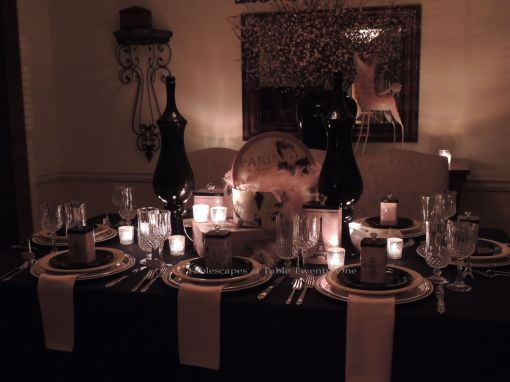 French Poodle tablescape - Tablescapes at Table Twenty-One
