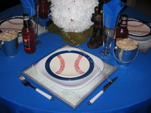 Boys of Summer baseball place setting - Tablescapes at Table Twenty-One