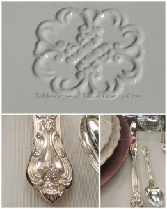 Flatware, rim shot collage