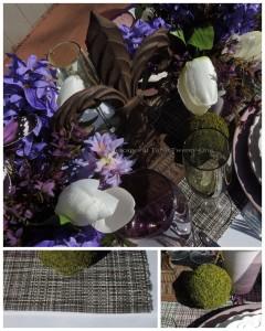 Moss ball, fleur de lis collage II