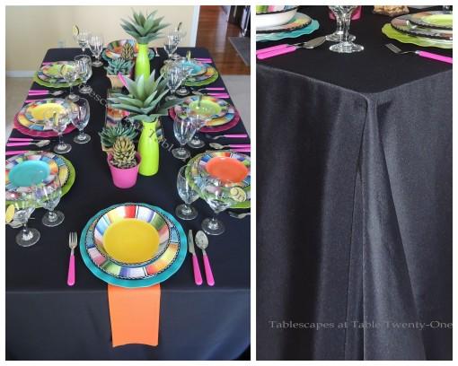 Table, linen pleat collage