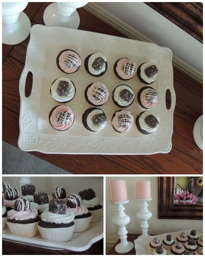 Candles, cupcakes collage