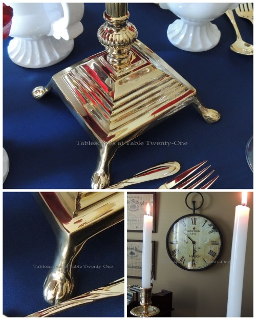 Tablescapes at Table Twenty-One – Lauren in the Library: Candlestick collage