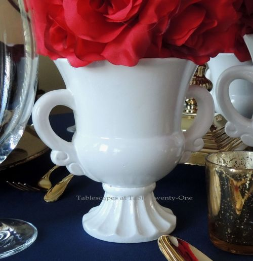 Tablescapes at Table Twenty-One – Lauren in the Library: White ceramic urn
