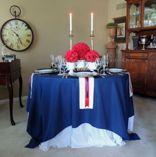Tablescapes at Table Twenty-One – Lauren in the Library: Full table, close-up