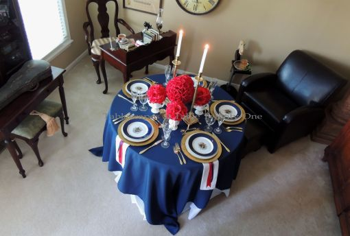 Tablescapes at Table Twenty-One – Lauren in the Library: overhead photo