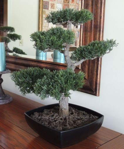 Tablescapes at Table Twenty-One: Float Like a Butterfly - Bonsai tree