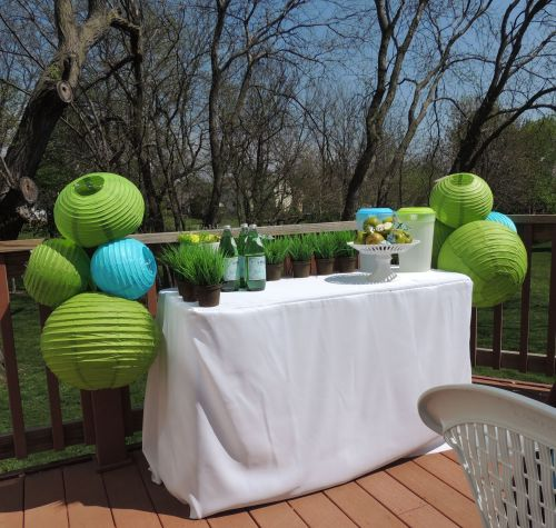 Tablescapes at Table Twenty-One - Butterfly Kaleidoscope: Buffet table outdoors