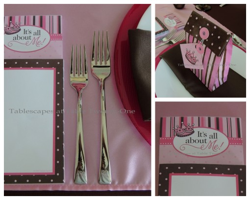 It's All About Me! – Tablescapes at Table Twenty-One: Flatware, Rim Shot, Favor Bag