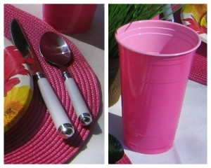 Flatware & cup collage