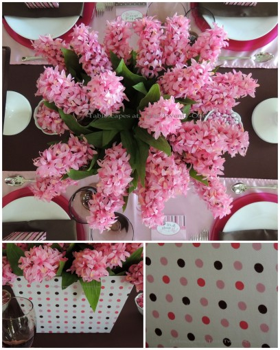 It's All About Me! – Tablescapes at Table Twenty-One: Table floral collage with pink hyacinth