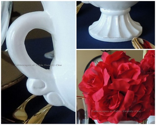Tablescapes at Table Twenty-One – Lauren in the Library: Urn collage