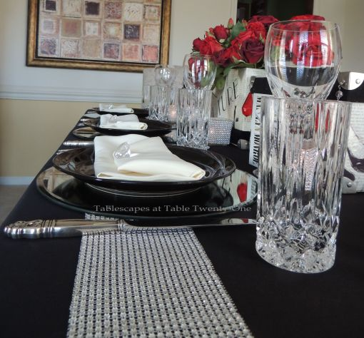 Tablescapes at Table Twenty-One – Diamonds Are a Material Girl's Best Friend: Multiple place settings