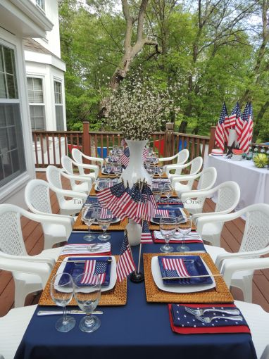 Full table - Stars & Stripes, Tablescapes at Table Twenty-One