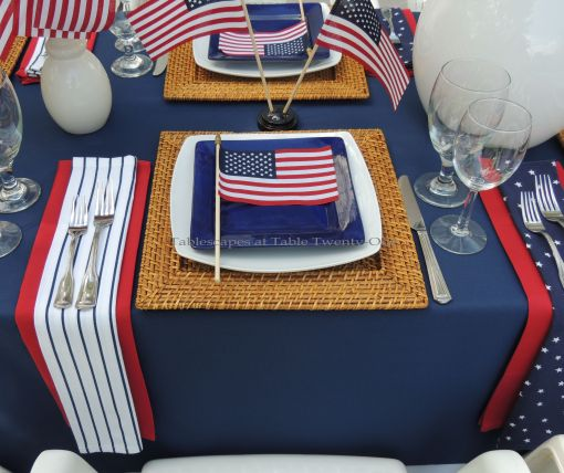 Patriotic place setting - Stars & Stripes, Tablescapes at Table Twenty-One