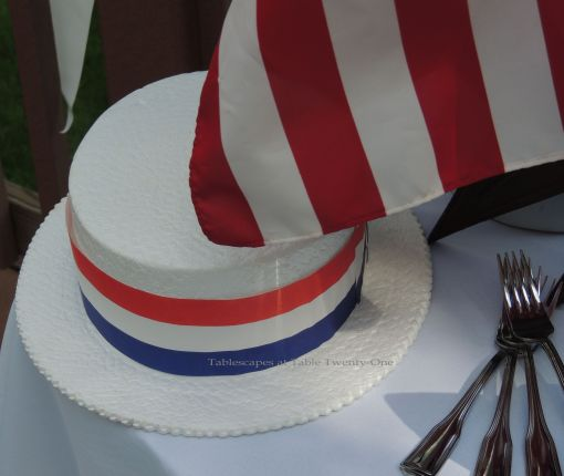 Barbershop Quartet Boater - Stars & Stripes, Tablescapes at Table Twenty-One
