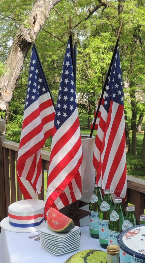 """American flag """"bouquet"""" - Stars & Stripes, Tablescapes at Table Twenty-One"""