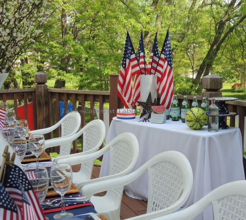 Buffet table - Stars & Stripes, Tablescapes at Table Twenty-One