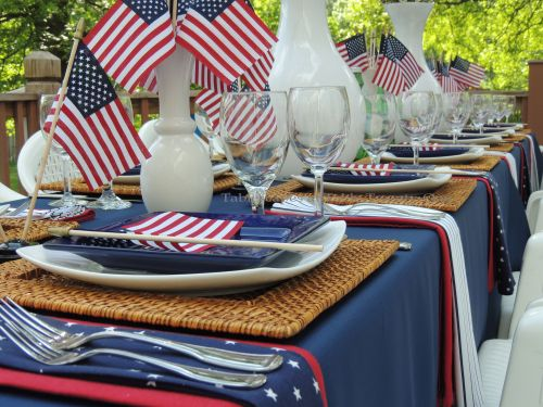 Multiple place settings - Stars & Stripes, Tablescapes at Table Twenty-One