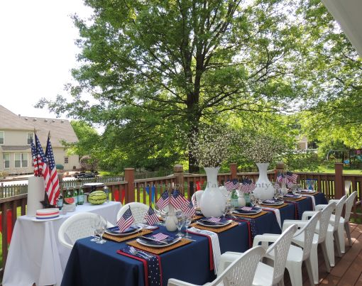 Full deck - Stars & Stripes, Tablescapes at Table Twenty-One