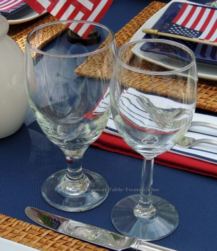 Stemware - Stars & Stripes, Tablescapes at Table Twenty-One