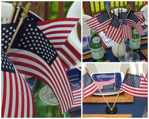 Table flags & Pelligrino collage