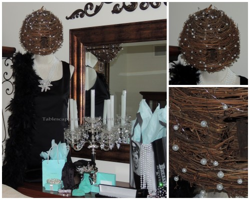 """Tablescapes at Table Twenty-One - Breakfast at Tiffany's - """"Bee hive hairdo"""" collage"""