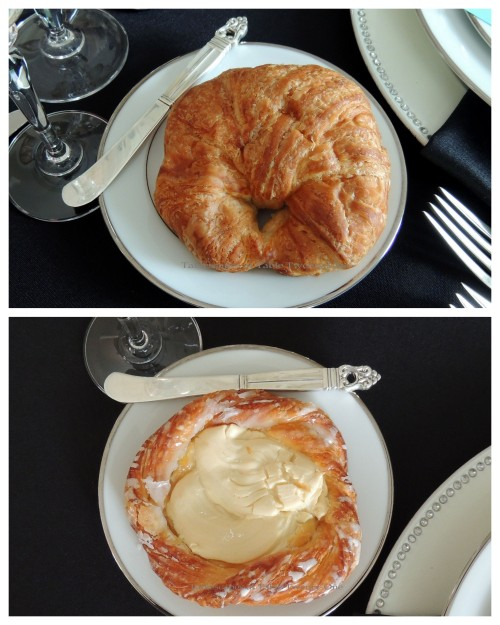 Tablescapes at Table Twenty-One - Breakfast at Tiffany's - Breakfast Pastry, Croissant collage